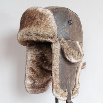 Furclothing Retro Warm Earmuffs Russian Hat Trapper Hat Furclothing In 2020 Bomber Hat Hats For Men Winter Hats