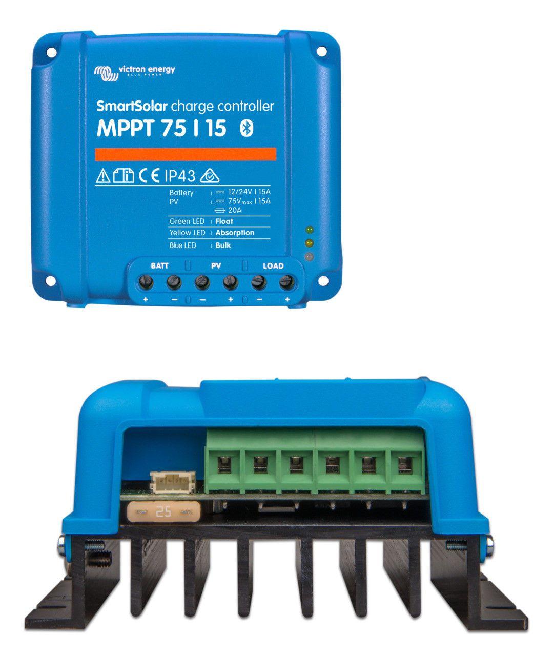 Victron Smartsolar Mppt 75 15 Charge Controller 691042693765 Ebay Energy Green Led Ebay
