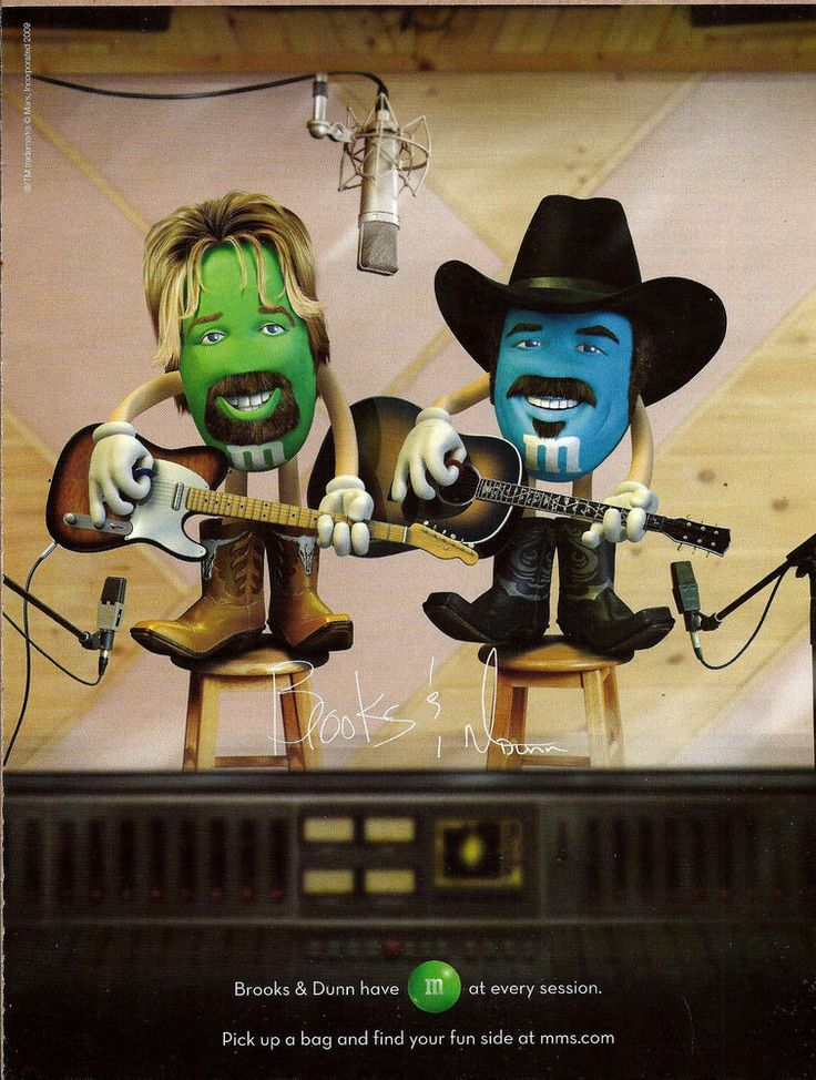m&m candy celebrities 2009 M&M's CANDY AD Brooks & Dunn