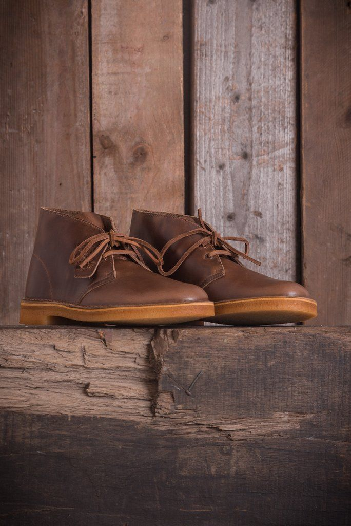 615b86f23 Clarks Originals x Horween Desert Boot - Camel Leather - Boots - The Priory  - 3