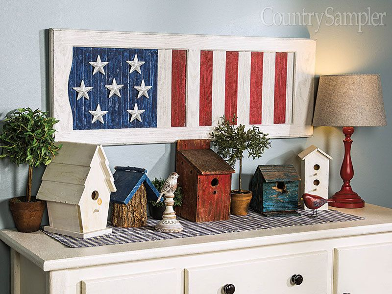 What A Smart Idea! Repaint A Shutter In Americana Style, And Add On A