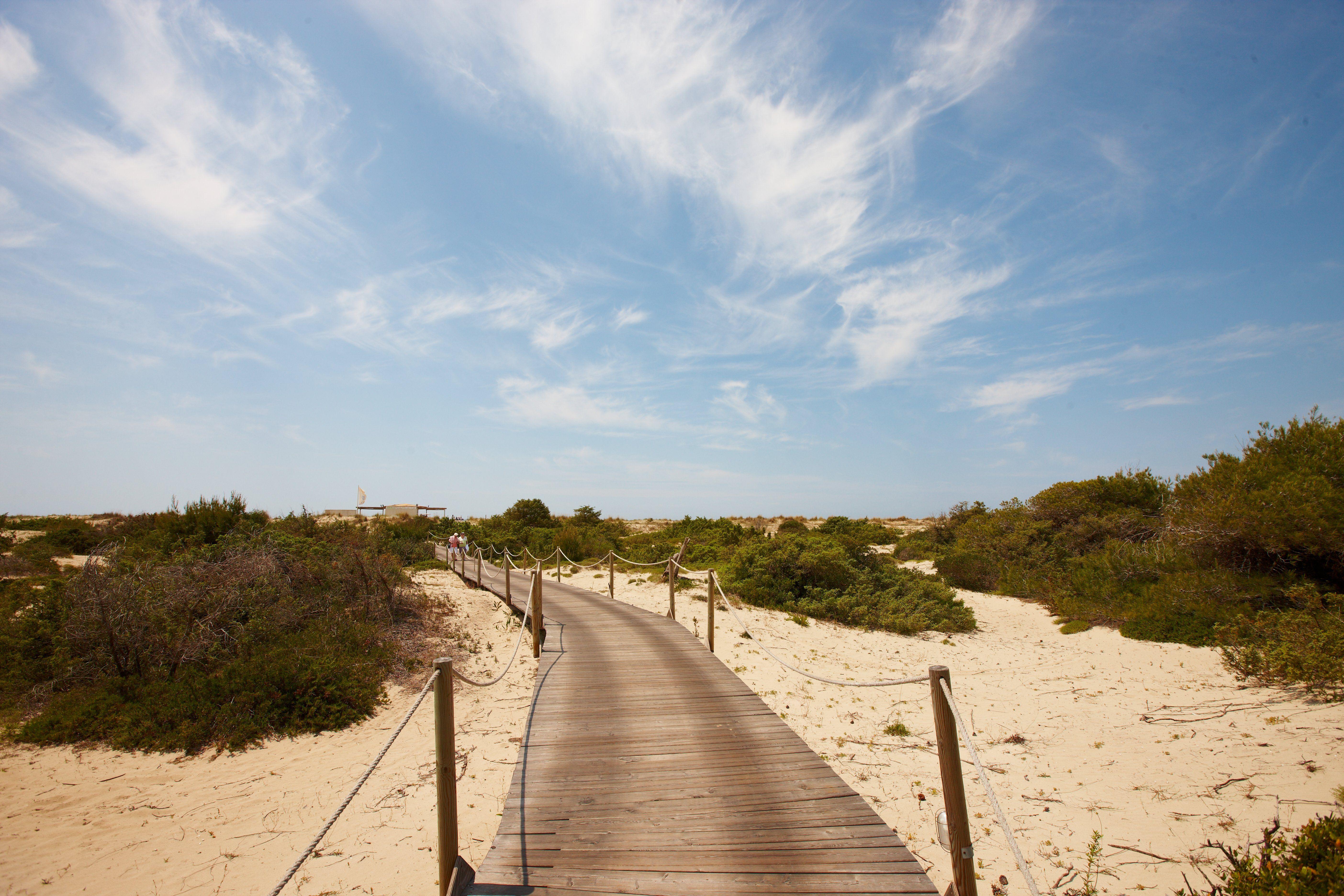 Könnte auch an der Nordsee sein; ist aber Süditalien :-) Der Weg zum Strand.