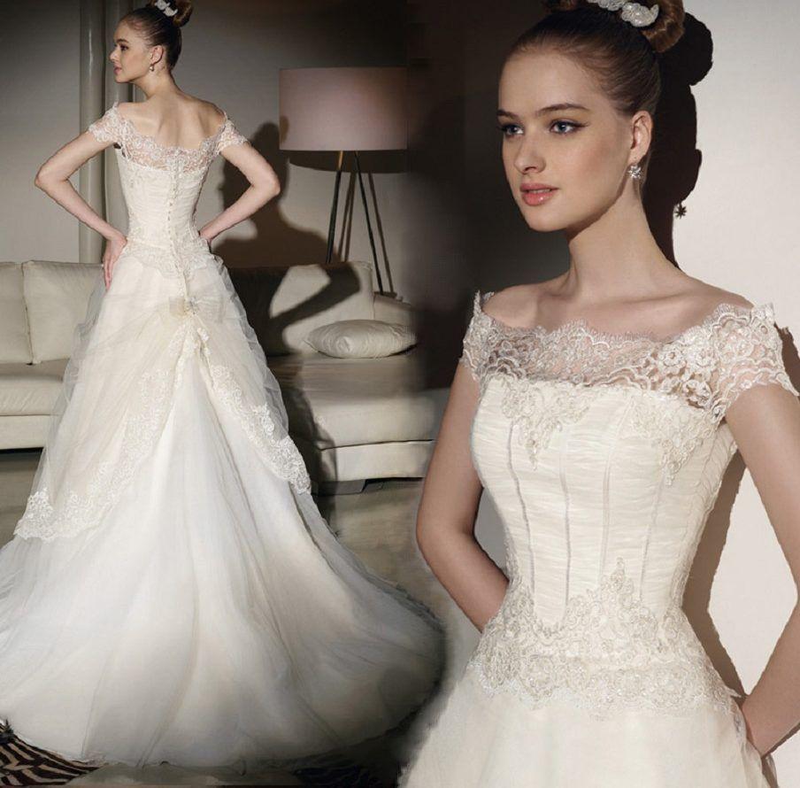 Vintage Wedding Dress 1960s Taffeta Full Skirt Dresses
