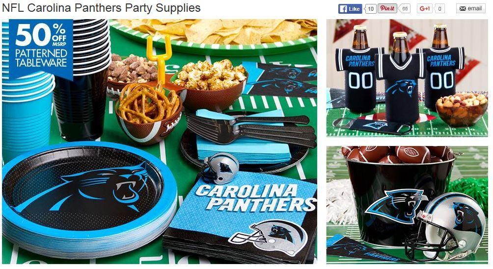 Party City Panthers Pride Pinterest Simple Party City Super Bowl Decorations
