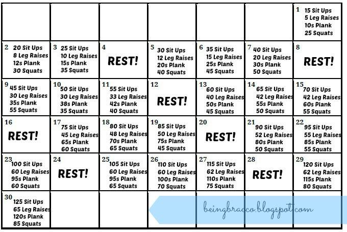 30 Day Summer Body Challenge!