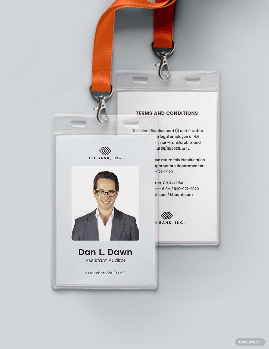 Blank Association Id Card Template Word Doc Psd Apple Mac Pages Illustrator Publisher Id Card Template Card Template Make Business Cards