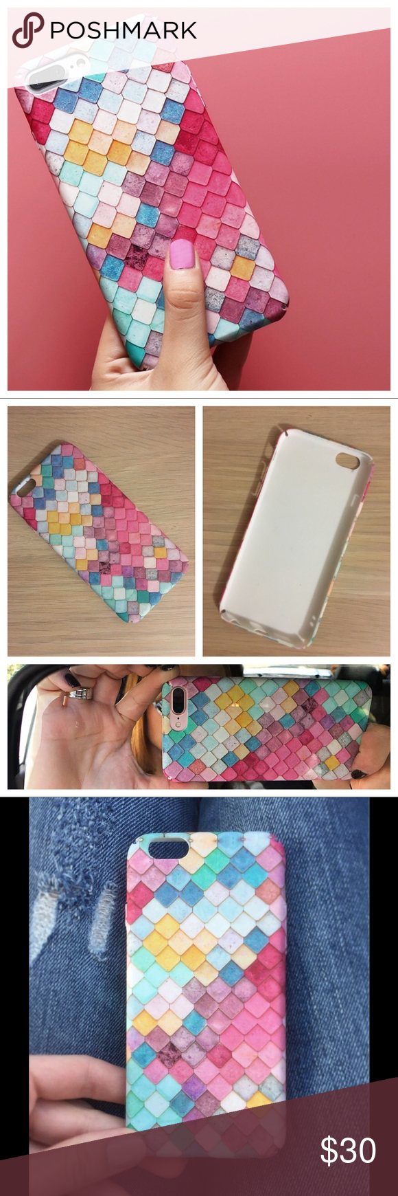 Mermaid Scale iPhone 7 Textured 3D Glow Case Made for the iPhone 7, will fit the iPhone 6s as well. Item has a 3D look and textured feel. Also glows in the dark (pic 6)!  ✅Bundle Discounts✅Please use 'Make an Offer' tool for all Bundles✅ 🚫No Trades🚫No Offers (unless bundled)🚫  Tag words: wildfox, boho, kawaii, harajuku, gypsy, mermaid, uniform, fish, summer, beach, scales, 3D, textured, pastel, iPhone, phone, case, glow, trendy Accessories Phone Cases