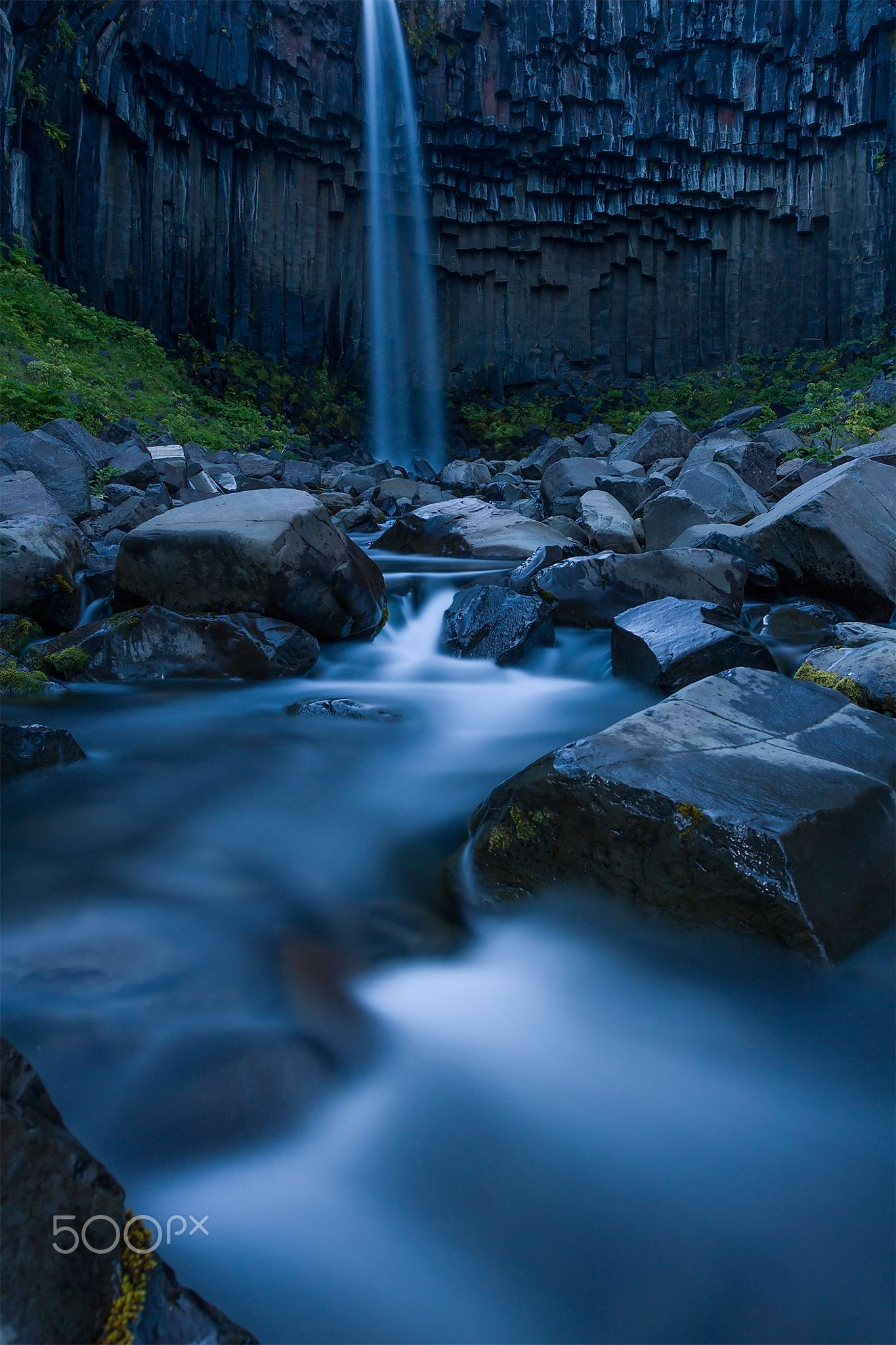 Blue Memory - Taken by Svartifoss South East Iceland.