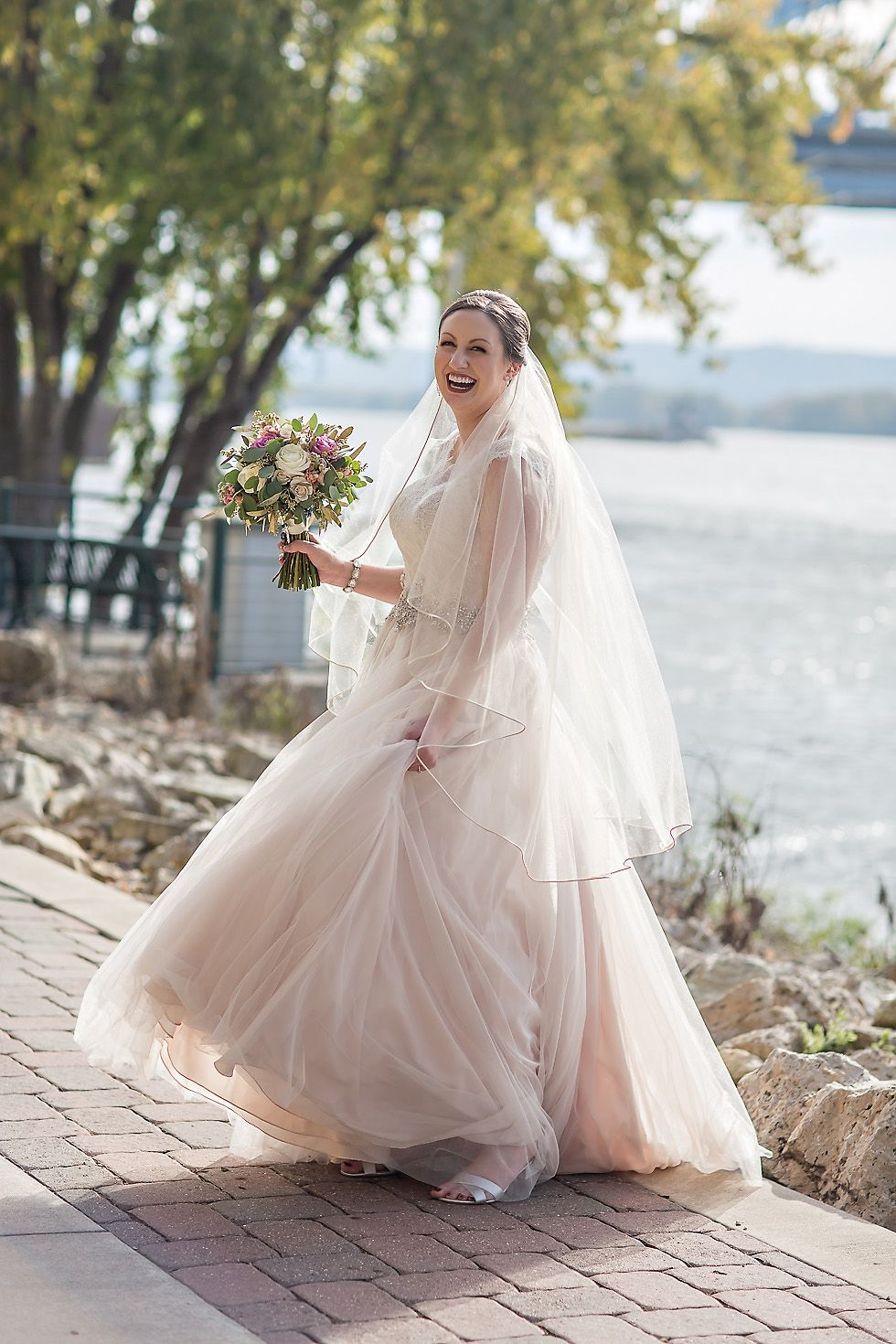 A Smile Is Your Best Accessory Moscato Colored Wedding Dress By