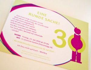 Eine Runde Sache 30 Geburtstag Einladung 30 Geburtstag