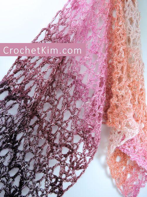 Berry Bubblegum Fling Wrap Free Crochet Pattern in Shawl in a Ball ...