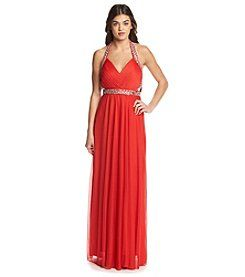 My Michelle® Jeweled Cutout Gown