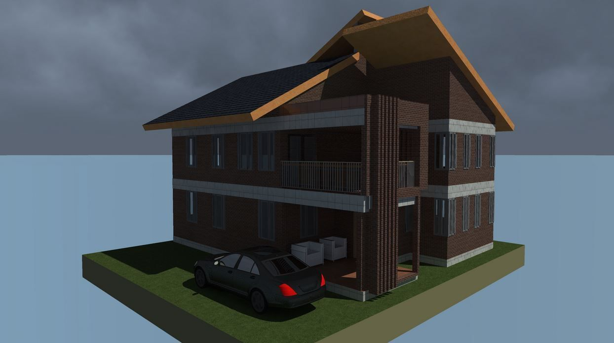 4 Bedroom Simple Mansion House Plan Done By Professionals Muthurwa Com Mansions Homes Mansions Simple Bedroom
