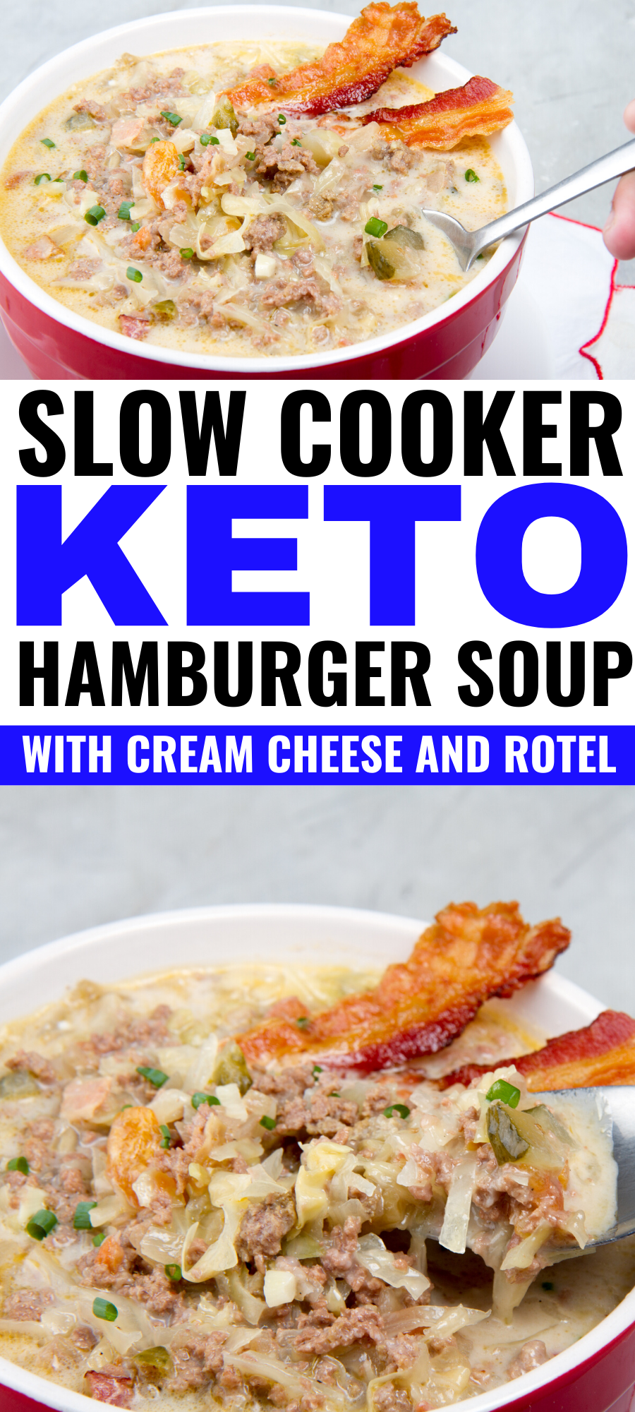 Slow Cooker Keto Hamburger Soup With Cream Cheese And Rotel Recipe Hamburger Soup Soup With Ground Beef Ground Beef Crockpot Recipes