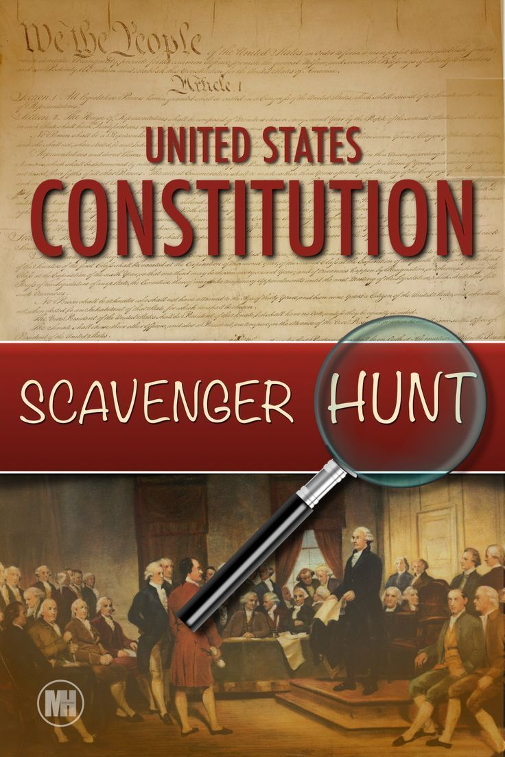 Constitution Day Activities Scavenger Hunt A Primary Source