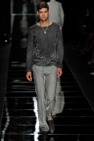 Grey brings a touch of class to casual wear ~ (John Richmond Spring 2012)