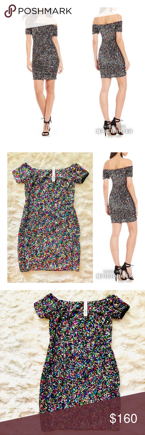 4d39ea64a5d 🔥NEW GIANNI BINI Zoe Confetti Sequin Dress The party doesn t start until  you
