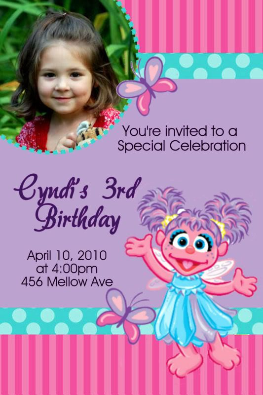 Abby Cadabby Birthday Invitations My Birthday – Abby Cadabby Birthday Invitations