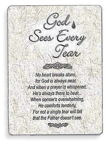 God Sees Every Tear Prayer Cards