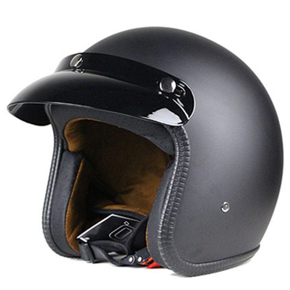 Motorcycle Helmet Dot Capacete De Moto Motociclista Casco Para Moto Kask Helmets Free Shipping M L X In 2020 Leather Motorcycle Helmet Vintage Helmet Open Face Helmets
