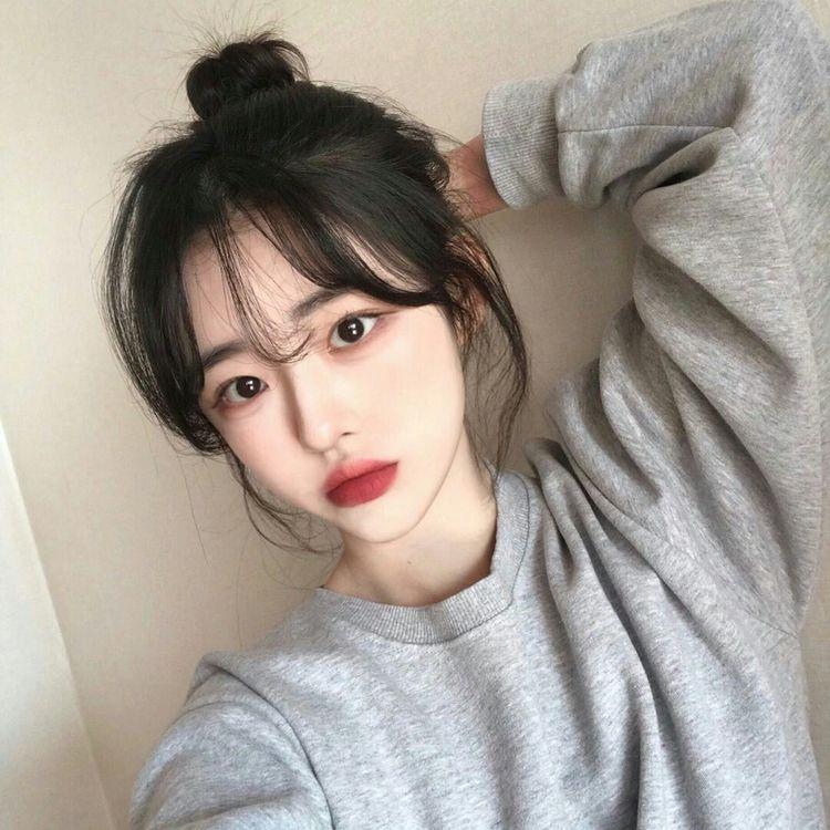 ????????????????????????????????????: ???????????????????????????????????? | Korean bangs hairstyle, Cute  korean girl, Ulzzang korean girl