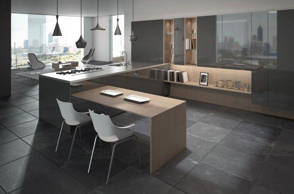 Cuisine en u ouverte pour tout espace 60 photos et conseils gorgeously minimal kitchens with perfect organization
