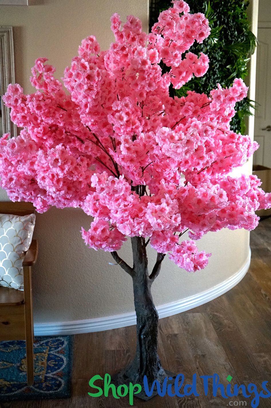 Flowering Artificial Dogwood Tree Extra Full Over 6 Tall Pink
