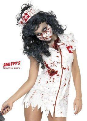 Costume Carnevale di Mask Paradise Carnevale Halloween Zombie Nurse Costume 80015