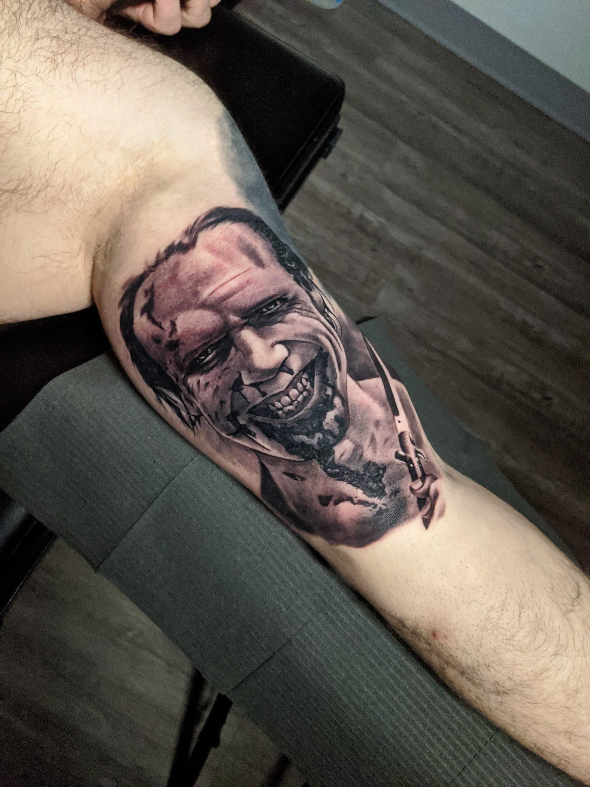 Doom head done my colton canby at athens tattoo company