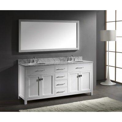 Pic On Caroline White inch Bathroom Vanity Kitchen and Bath Warehouse
