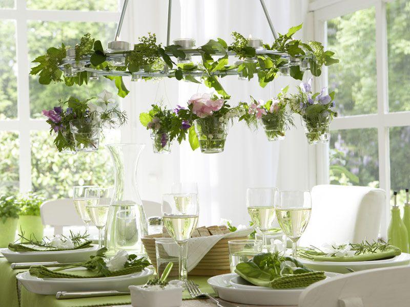Einfache tischdeko frühling  Kräutergarten für die Fensterbank | Tischdeko, Dekorieren und Kräuter