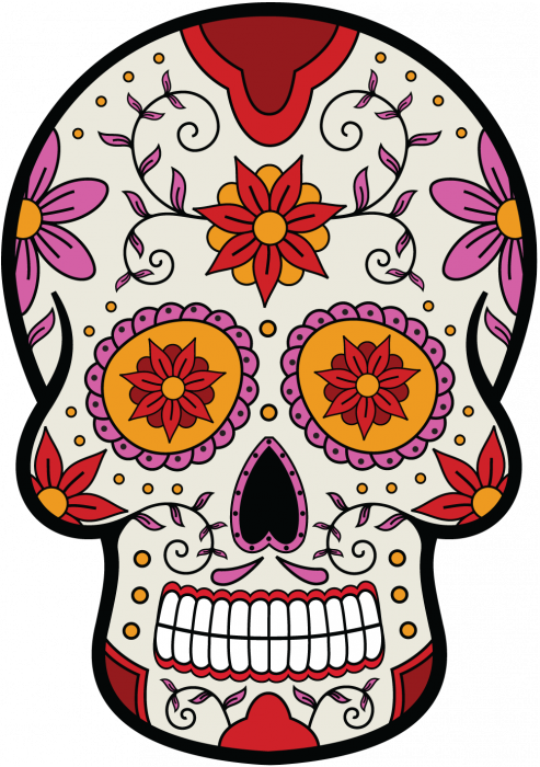 sticker calavera tete de mort mexicaine 7 mpa d co autocollants calavera. Black Bedroom Furniture Sets. Home Design Ideas