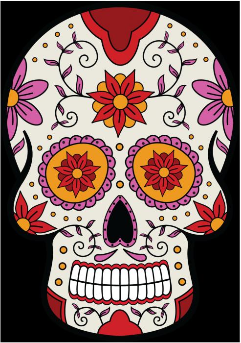 Epingle Sur Tete De Mort Mexicaine