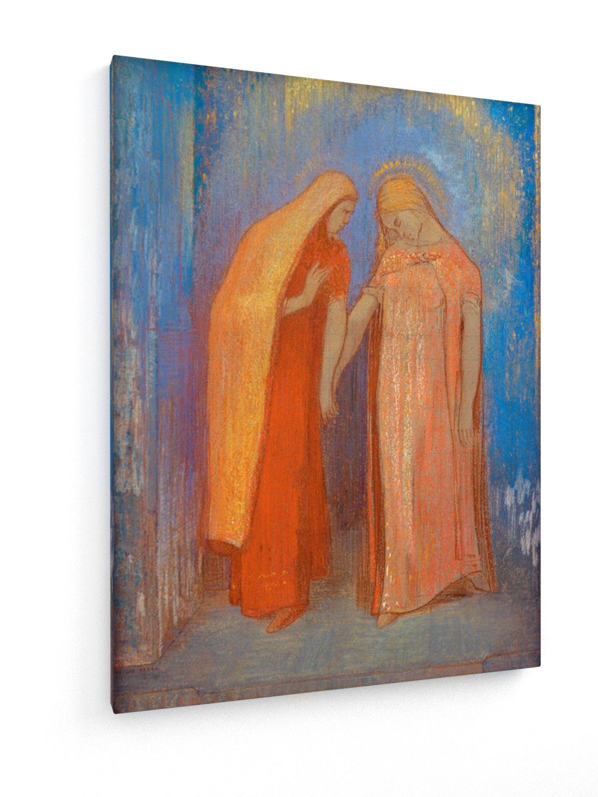 Odilen Redon - Mystisches Gespräch (Die Heimsuchung) #Odilon #Redon #weewado #odilon #redon #christianity #art #religion