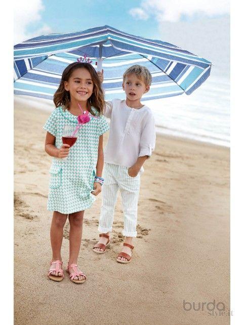 Abito a trapezio - Bambina - Kids - Shop & Cartamodelli Il mondo dei cartamodelli e del cucito