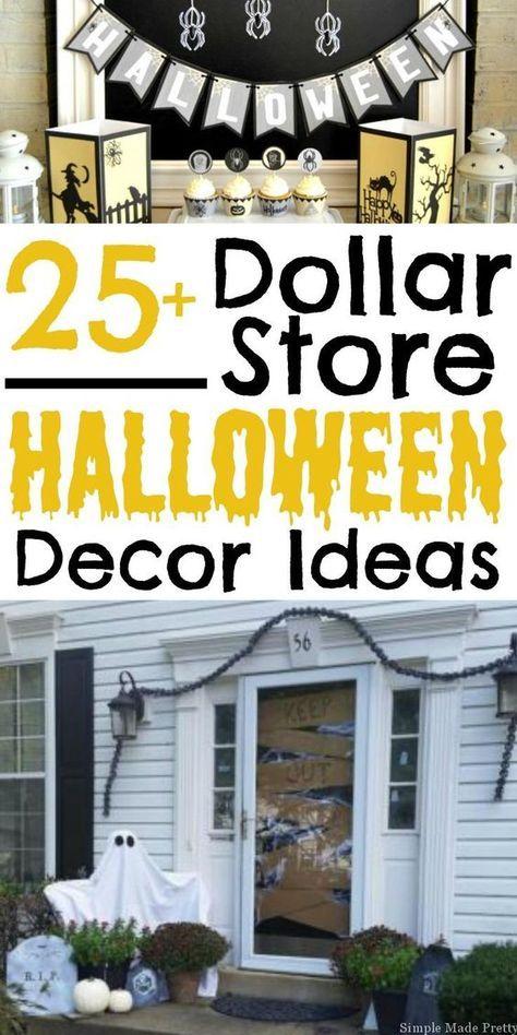 25+ Halloween Decor Ideas from the Dollar Store #cheapdiyhalloweendecorations