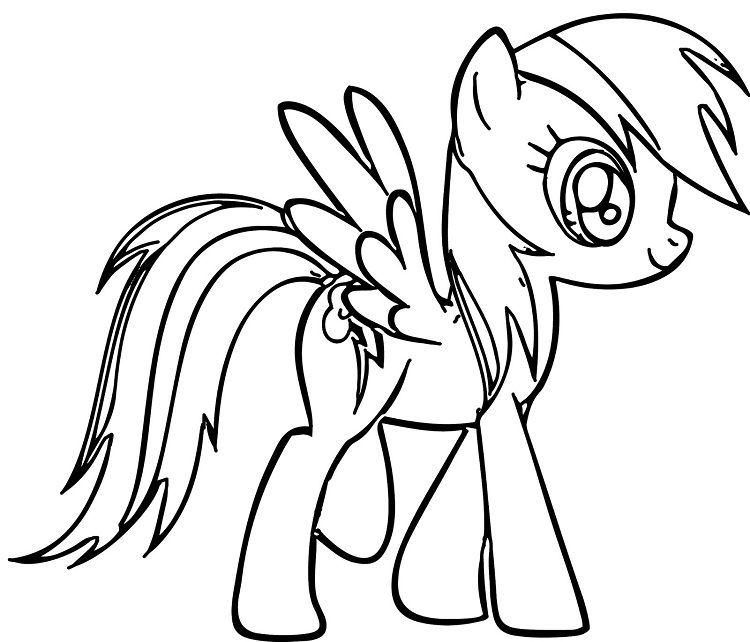 My Little Pony Printable Coloring Pages Rainbow Dash Coloring
