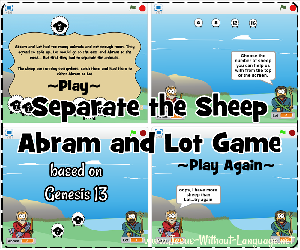 Simple Classroom Computer Game Abram And Lot Genesis 13