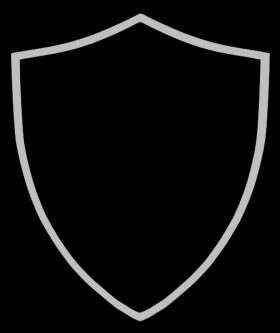 Shield sheild. Silver vector logos esports