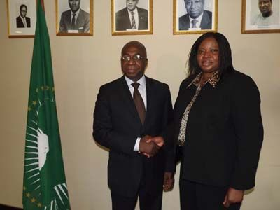 Tete Antonio, Ambassador Permanent Observer, African Union, Permanent Observer Mission to the United Nations,Fatou Bensouda, Prosecuter Elect, International Criminal Court,
