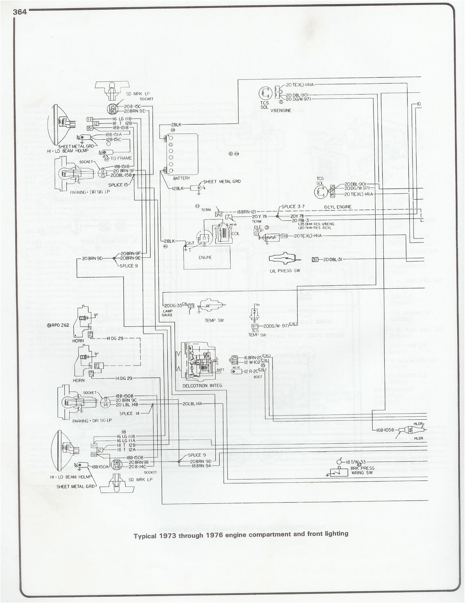 Wiring Diagram 1973 1976 Chevy Pickup 1977 Small Block Motor Truck