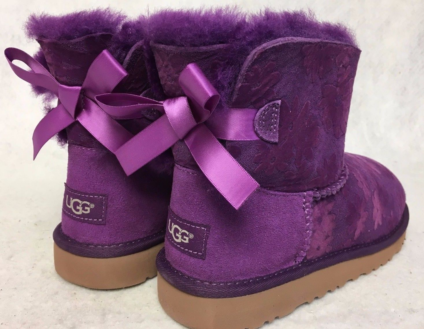 c19716db7a7 Baby Wear Ugg Australia Mini Bailey Bow Flowers Girl's Toddler Boots ...