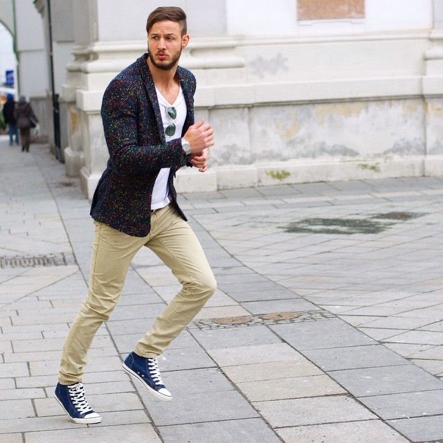 Tan chinos, Chino shoes, Fashion