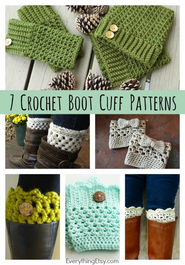 7 Free Crochet Boot Cuff Patterns | Häkeln Und strick Socken ...