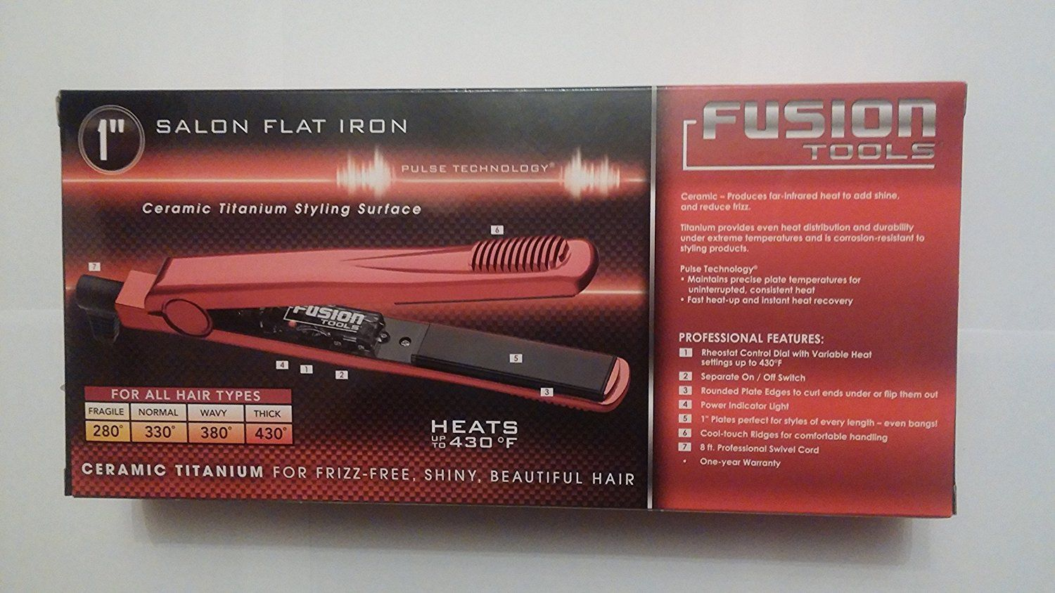 Fusion Tools 1 Ceramic Flat Iron This Is An Amazon Affiliate Link See This Great Product Hair Tools Ceramic Flat Iron Flat Iron
