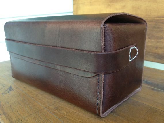b3fac81d11fd Dopp Kit  Hand stitched   Attache Case Toiletry by OfMudandCoal ...