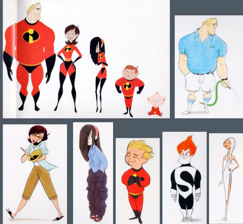 Concept Character Design Tips : Visual development character design pixar the incredibles