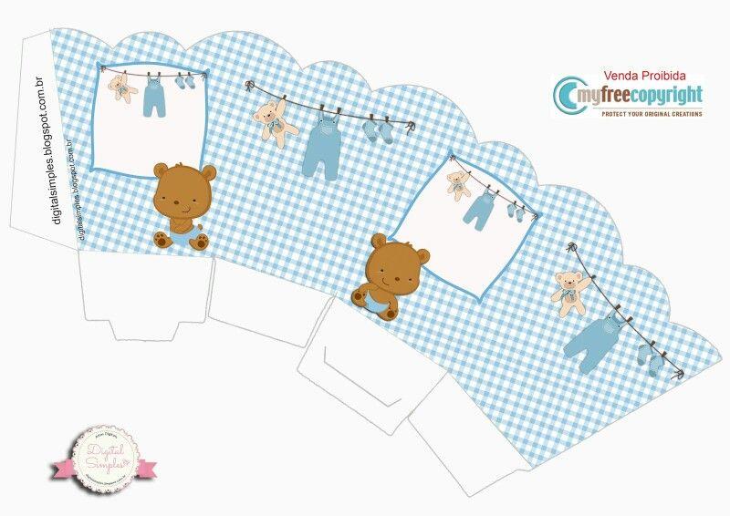 Cajitas Para Bautizo Nino.Cajita Abierta Bebe Osito Baby Cajas De Regalo