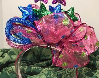 Red Hat Society Fascinator Headband