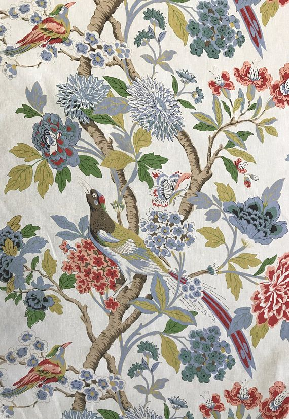 Bird Fabric Melissa Bird Garden Drapery Fabric Upholstery